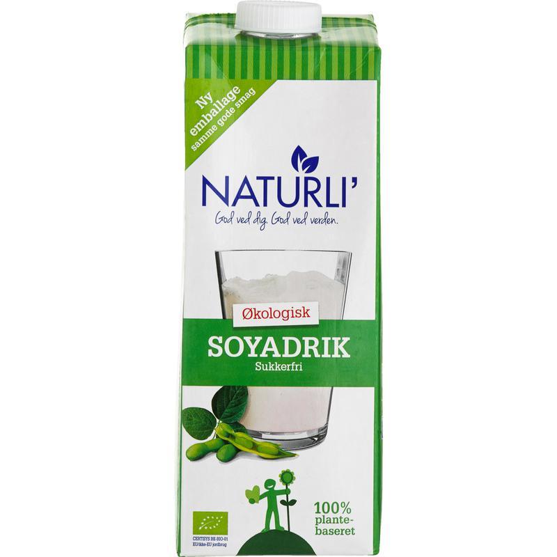 Naturli økologisk Soyadrik sukkerfri plantebaseret