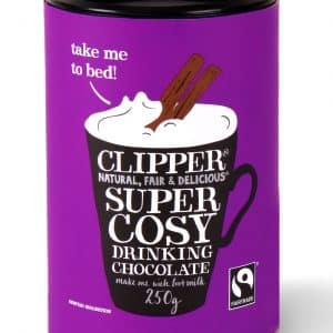 Instant hot chocolate drink cosy