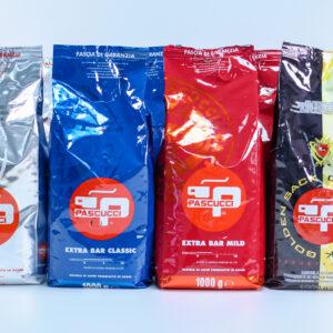 Kaffepakke med Pascucci espressokaffe, 8 kg.