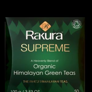 Rakura Supreme Himmalayan green tea - økologisk- løs te 100 gr.