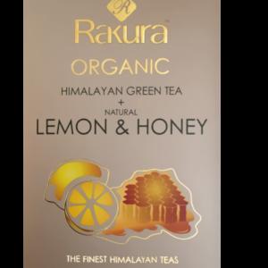 Rakura Lemon & Honey, økologisk, 25 tebreve