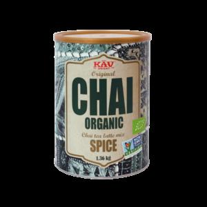 KAV organic spice, dåse med 1360 gram.