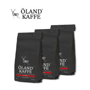 Öland-kaffe, kaffepakke med 3 poser af 250 gram hele bønner