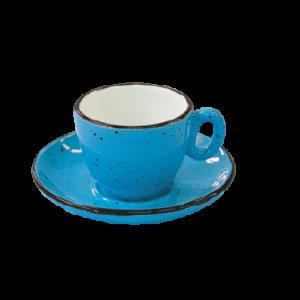 Espressokopper-blå-7 cl- iris-dot