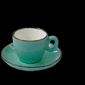 Espressokop, 7 cl, grøn iris dot
