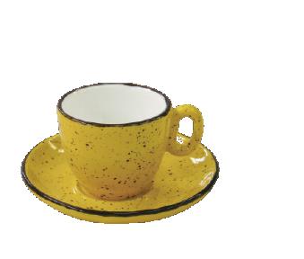 Espressokop,7 cl, gul