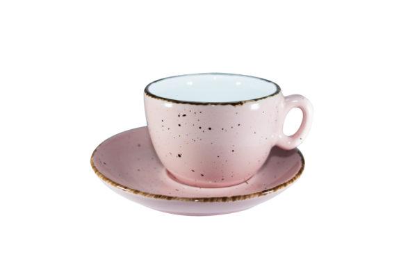 Cappuccinokop 25 cl. pink, 6 stk.